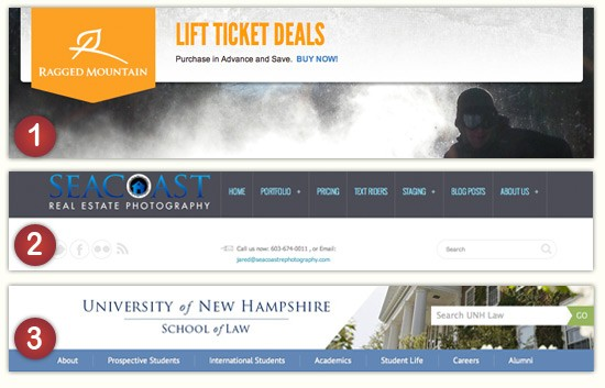 NH Responsive web design examples