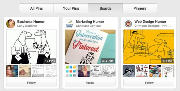 humorous Pinterest boards