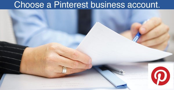 choose a Pinterest business account