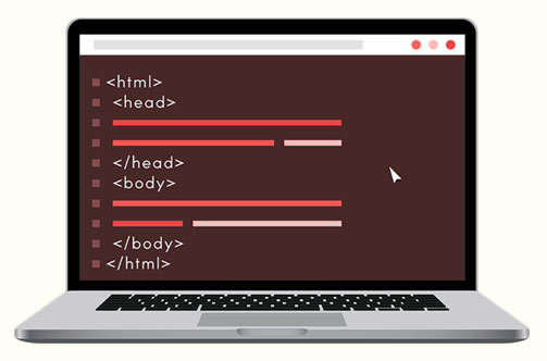 HTML on computer
