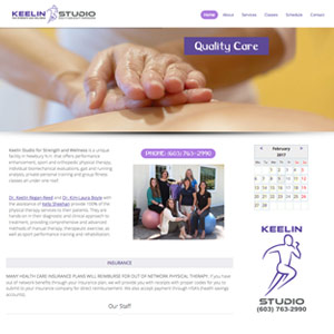 Keelin Studio website - Newbury, NH