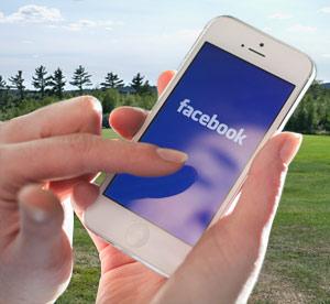 Facebook user on iPhone