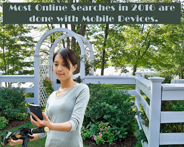 Most online searches in 2016 are done with mobile devices.