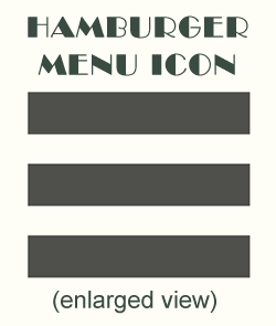 website hamburger menu icon