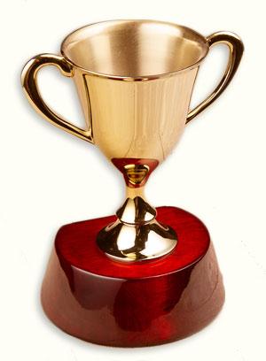 gold blog trophy