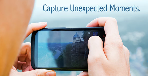 capture unexpected moments with smartphone