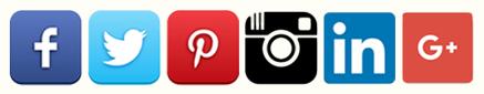 social media icons 2016