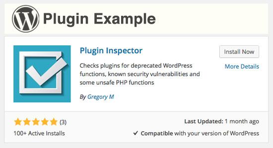 WordPress plugin example