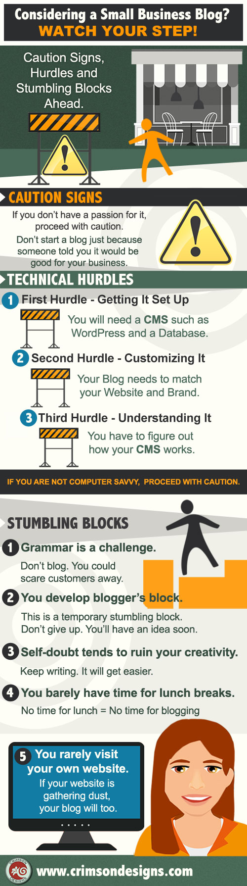 Considering a Small Business Blog - Infographic