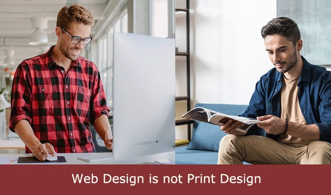 web design is not print design