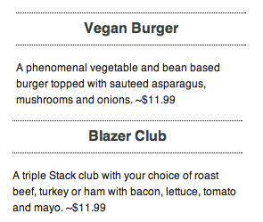 menu stacked