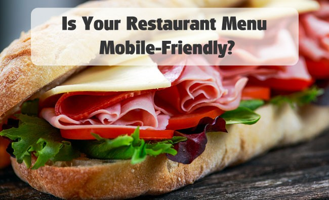 mobile friendly restaurant menu