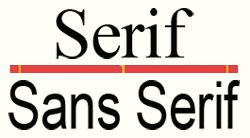 sans-serif font for paragraphs