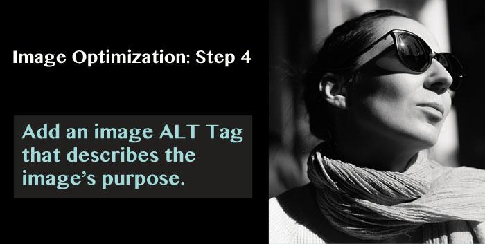 Image Optimization: Step 4. Add an image ALT tag.