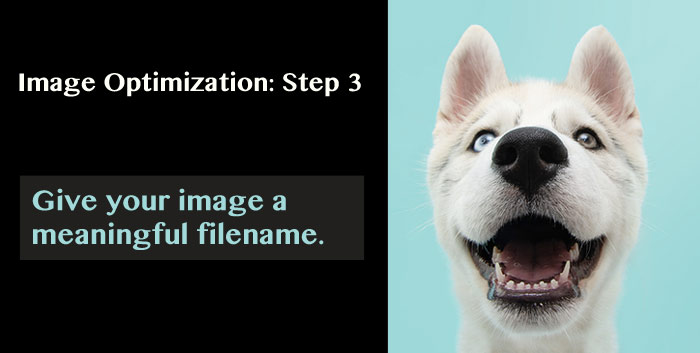 Image Optimization: Step 3. Give your image a meaningful filename.