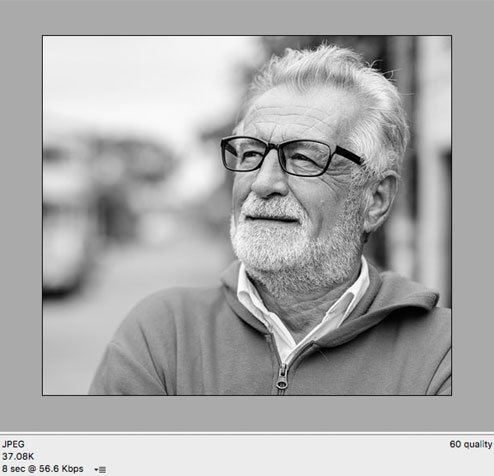 Optimized JPEG image at 60% Quality.